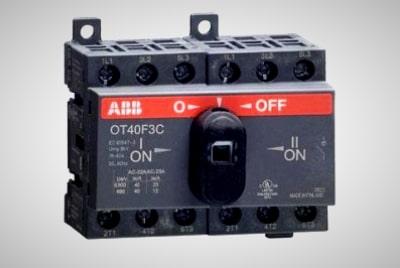 Трех полюсный переключатель OT40F3С